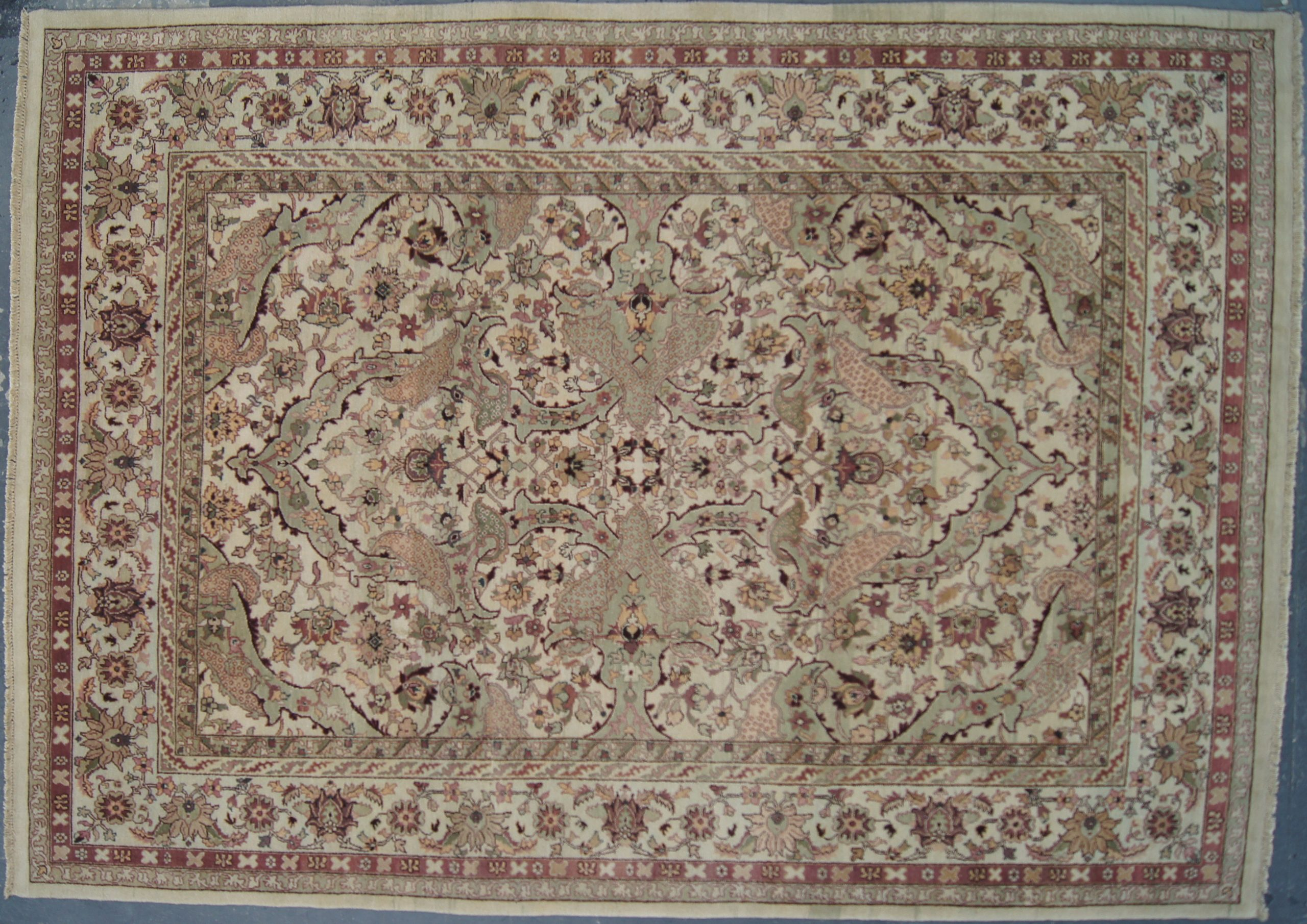"Indian Tabriz Rug - 9'0""x12'0"""