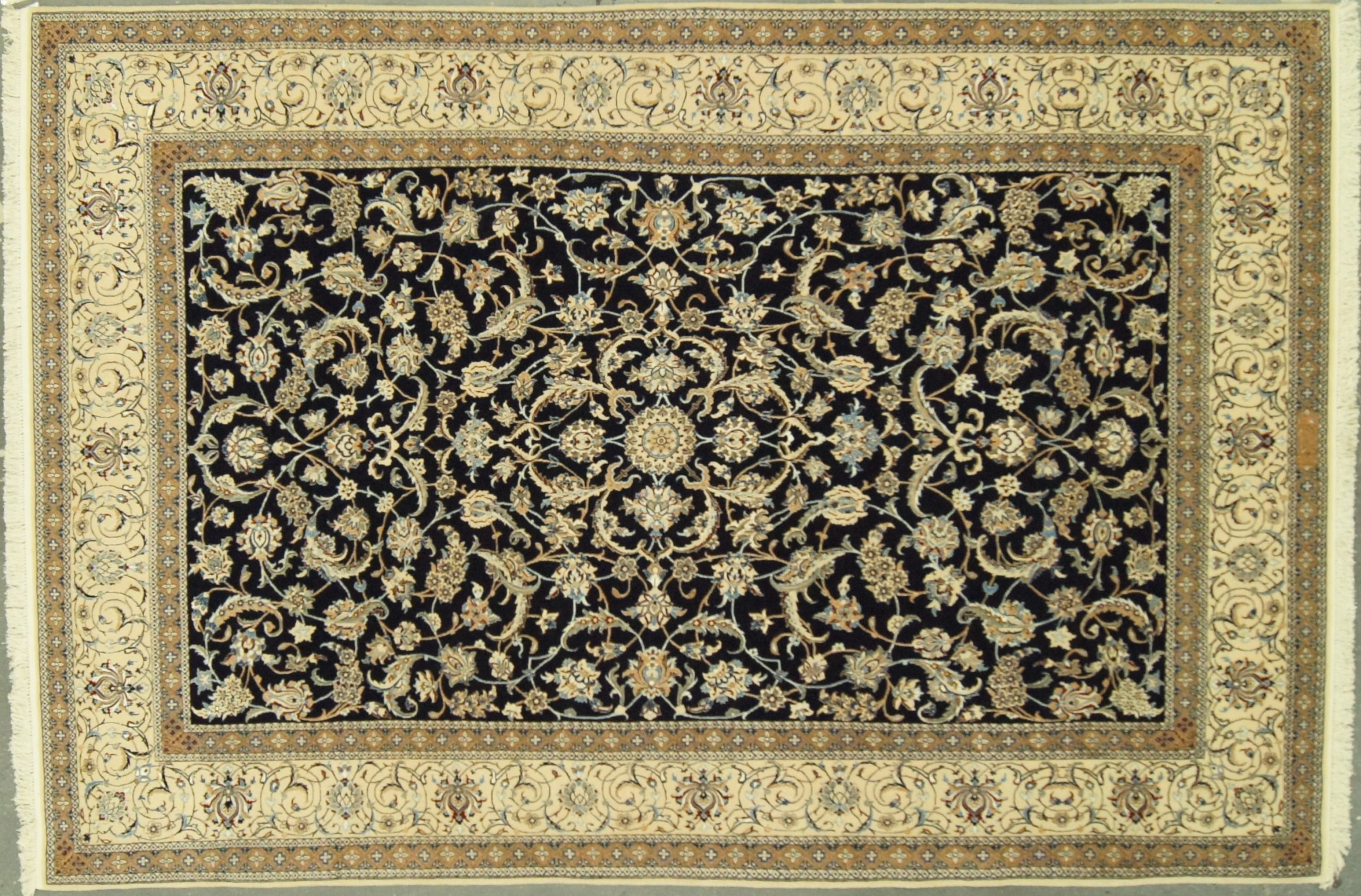 6x9 Iranian Nain Superfine Wool & Silk - Rug